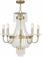 Livex 51845-28 Valentina Hand Applied Winter Gold Lighting Chandelier