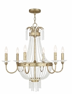 Livex 51846-28 Valentina Hand Applied Winter Gold Chandelier Light