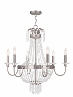 Livex 51846-91 Valentina Brushed Nickel Ceiling Chandelier