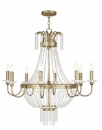 Livex 51848-28 Valentina Hand Applied Winter Gold Hanging Chandelier