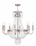Livex 51848-91 Valentina Brushed Nickel Chandelier Light