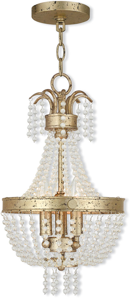 Livex 51853 28 valentina hand applied winter gold 10 for Winter gold light fixtures