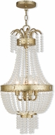 Livex 51854-28 Valentina Hand Applied Winter Gold 12.75  Entryway Light Fixture
