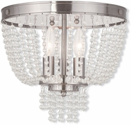 Livex 51864-91 Valentina Brushed Nickel Overhead Light Fixture