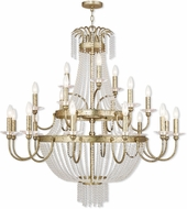 Livex 51877-28 Valentina Hand Applied Winter Gold Chandelier Lighting