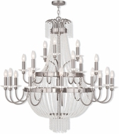Livex 51877-91 Valentina Brushed Nickel Lighting Chandelier