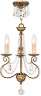 Livex 51903-36 Isabella Hand Applied European Bronze Mini Chandelier Lamp
