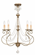 Livex 51905-36 Isabella Hand Applied European Bronze Ceiling Chandelier