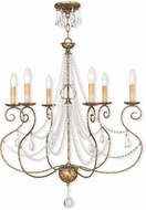 Livex 51906-36 Isabella Hand Applied European Bronze Hanging Chandelier