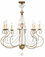 Livex 51908-36 Isabella Hand Applied European Bronze Chandelier Lighting