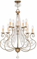 Livex 51909-36 Isabella Hand Applied European Bronze Lighting Chandelier