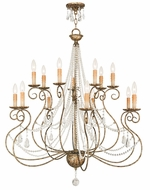 Livex 51910-36 Isabella Hand Applied European Bronze Chandelier Lamp
