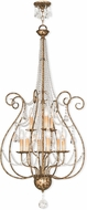 Livex 51911-36 Isabella Hand Applied European Bronze Chandelier Light