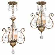 Livex 51914-36 Isabella Hand Applied European Bronze Mini Chandelier Lighting / Overhead Lighting Fixture