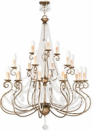 Livex 51919-36 Isabella Hand Applied European Bronze Ceiling Chandelier