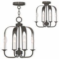 Livex 51934-92 Addison Contemporary English Bronze Mini Chandelier Light / Flush Lighting