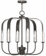 Livex 51936-92 Addison Contemporary English Bronze Halogen Chandelier Lamp