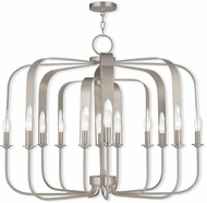 Livex 51939-91 Addison Contemporary Brushed Nickel Ceiling Chandelier