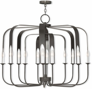 Livex 51939-92 Addison Modern English Bronze Hanging Chandelier