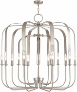 Livex 51949-91 Addison Contemporary Brushed Nickel Foyer Lighting