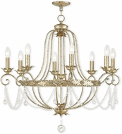Livex 51958-28 Sophia Hand Applied Winter Gold Lighting Chandelier