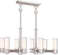 Livex 52108-91 Weston Modern Brushed Nickel Kitchen Island Light