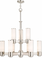 Livex 52109-35 Weston Contemporary Polished Nickel Chandelier Lamp