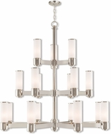 Livex 52119-35 Weston Contemporary Polished Nickel Ceiling Chandelier