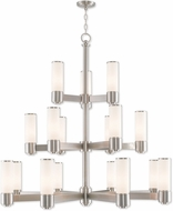 Livex 52119-91 Weston Modern Brushed Nickel Hanging Chandelier