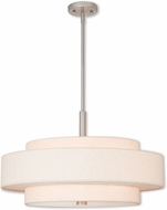Livex 52138-91 Meridian Brushed Nickel 24  Drum Pendant Lighting