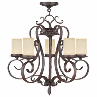 Livex 5485-58 Millburn Manor Imperial Bronze Chandelier Lighting