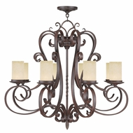 Livex 5488-58 Millburn Manor Imperial Bronze Chandelier Lamp