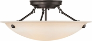 Livex 5626-07 Oasis Bronze Flush Mount Light Fixture