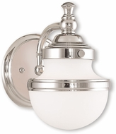 Livex 5711-05 Oldwick Polished Chrome Wall Light Sconce