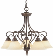 Livex 6135-58 Coronado Imperial Bronze Chandelier Light