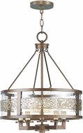 Livex 6257-64 Waverly Palacial Bronze with Gilded Accents Mini Hanging Chandelier