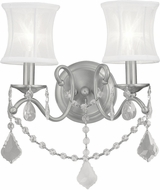 Livex 6302-91 Newcastle Brushed Nickel Lighting Sconce