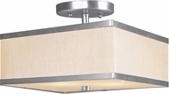 Livex 6347-91 Park Ridge Brushed Nickel Flush Mount Lighting Fixture