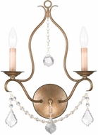 Livex 6422-48 Chesterfield Antique Gold Leaf Lamp Sconce