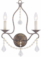 Livex 6422-71 Chesterfield Hand Applied Venetian Golden Bronze Wall Sconce Lighting