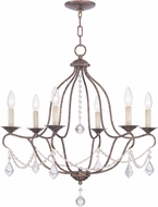 Livex 6426-71 Chesterfield Hand Applied Venetian Golden Bronze Lighting Chandelier