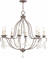Livex 6428-71 Chesterfield Hand Applied Venetian Golden Bronze Chandelier Lamp