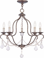 Livex 6435-71 Chesterfield Hand Applied Venetian Golden Bronze Mini Chandelier Light