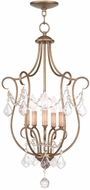 Livex 6436-48 Chesterfield Antique Gold Leaf Entryway Light Fixture