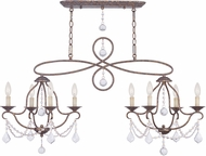 Livex 6437-71 Chesterfield Hand Applied Venetian Golden Bronze Kitchen Island Light Fixture