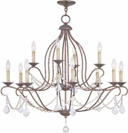 Livex 6438-71 Chesterfield Hand Applied Venetian Golden Bronze Chandelier Light