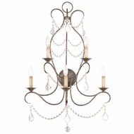 Livex 6445-71 Chesterfield Hand Applied Venetian Golden Bronze Lighting Wall Sconce