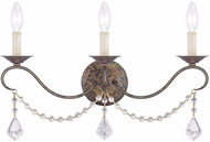 Livex 6458-71 Chesterfield Hand Applied Venetian Golden Bronze Wall Lighting Sconce
