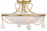 Livex 6524-02 Chesterfield/Pennington Polished Brass Ceiling Lighting