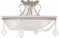 Livex 6524-91 Chesterfield/Pennington Brushed Nickel Ceiling Lighting Fixture